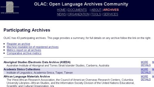 Accueil archives Olac